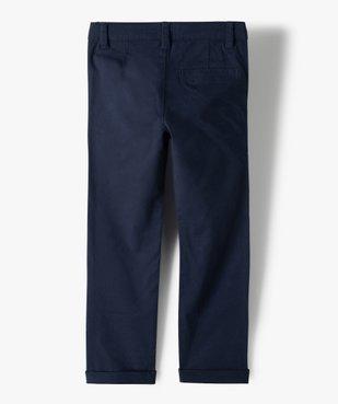 Pantalon garçon chino en toile unie  vue4 - GEMO (ENFANT) - GEMO