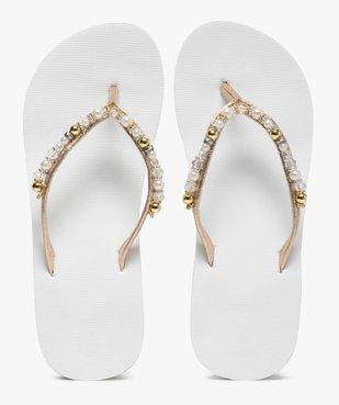 Tongs femme à talon et brides ornées de perles vue1 - Nikesneakers (PLAGE) - Nikesneakers