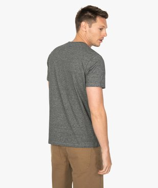 Tee-shirt homme à manches courtes et fines rayures vue3 - GEMO (HOMME) - GEMO
