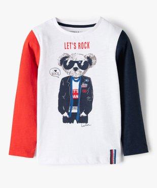 Tee-shirt garçon à manches longues imprimé - Lulu Castagnette vue2 - LULUCASTAGNETTE - GEMO