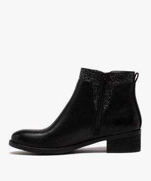 Boots femme à talon plat et laçage fantaisie vue3 - GEMO (CASUAL) - GEMO
