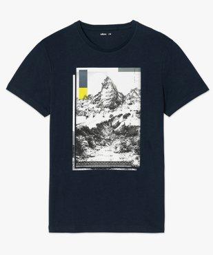 Tee-shirt homme avec motif montagne vue4 - GEMO (HOMME) - GEMO