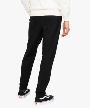 Pantalon homme en maille extensible avec pli sur l'avant vue3 - GEMO (HOMME) - GEMO