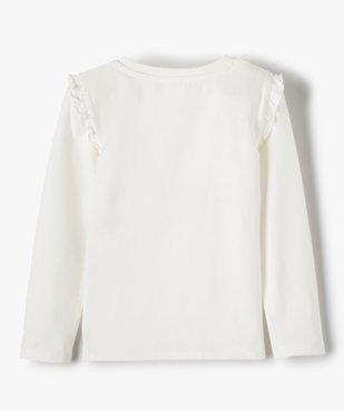 Tee-shirt fille avec motifs multimatières – Lulu Castagnette vue4 - LULUCASTAGNETTE - GEMO