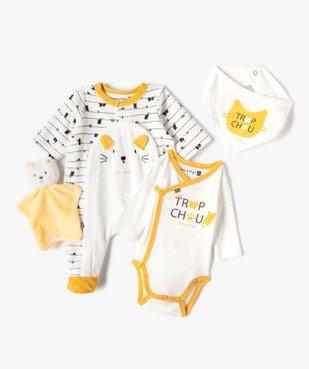 Ensemble bébé 4 pièces : trousseau layette de naissance - Sucre d'Orge vue1 - SUCRE D'ORGE - GEMO