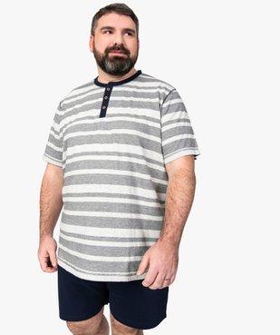 Pyjashort homme avec haut rayé vue1 - Nikesneakers(HOMWR HOM) - Nikesneakers