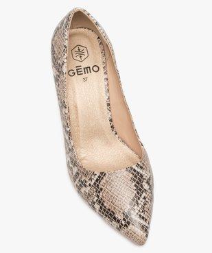 Escarpins femme bout pointu et talon large à détail brillant et motif animalier vue5 - GEMO(URBAIN) - GEMO