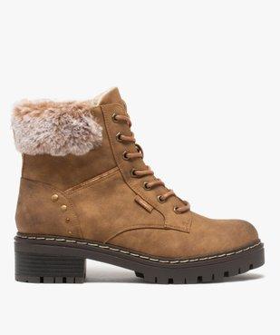 Boots fourrées femme à col rembourré et semelle crantée vue2 - GEMO (CASUAL) - GEMO