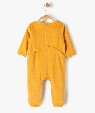Pyjama bébé en velours avec message vue3 - Nikesneakers(BB COUCHE) - Nikesneakers