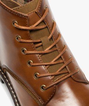 Boots homme unis à lacets et zip avec couture débordante vue6 - GEMO (CASUAL) - GEMO
