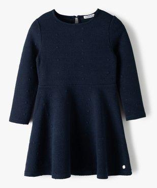 Robe fille à manches longues en maille texturée – Lulu Castagnette vue1 - LULUCASTAGNETTE - Nikesneakers