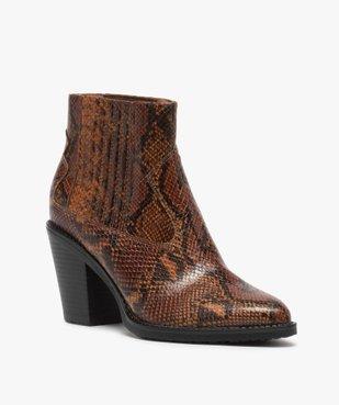 Boots femme style santiag à col élastiqué et bout pointu vue2 - Nikesneakers(URBAIN) - Nikesneakers