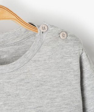Tee-shirt bébé garçon à manches longues avec message vue3 - GEMO C4G BEBE - GEMO