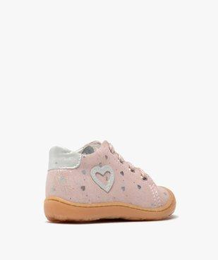 Chaussures premiers pas bébé fille en cuir vue4 - Nikesneakers(BEBE DEBT) - Nikesneakers