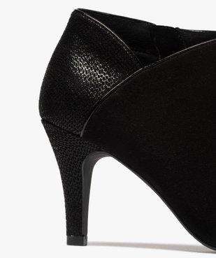 Low-boots femme dessus suédine et bordures passepoil vue6 - GEMO(URBAIN) - GEMO