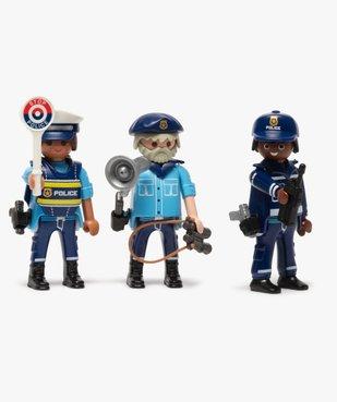 Jouet enfant équipe de policiers - Playmobil vue2 - DIVERS LICENCE - GEMO