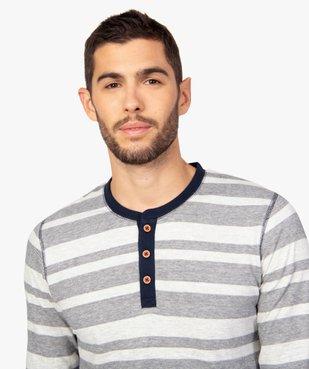 Pyjama homme 2 pièces tee-shirt et pantalon dépareillés vue2 - GEMO(HOMWR HOM) - GEMO