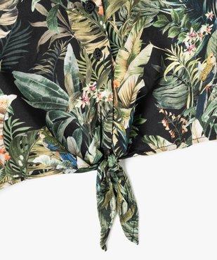 Chemise fille coupe courte à nouer dans le bas vue3 - GEMO (JUNIOR) - GEMO