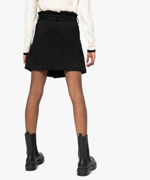 Jupe femme en suédine ouverture boutons avec ceinture vue3 - GEMO(FEMME PAP) - GEMO