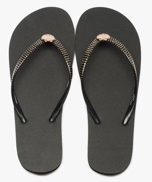 Tongs femme à brides pailletées avec bijou coquillage vue1 - Nikesneakers (PLAGE) - Nikesneakers