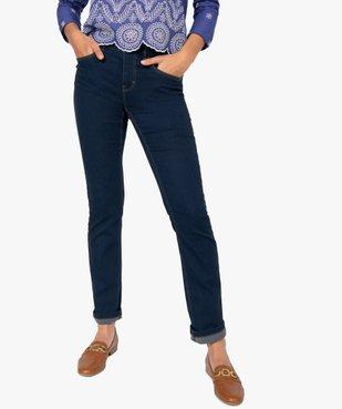 Jean femme extensible coupe Regular – Longueur L30 vue1 - GEMO (JEAN) - GEMO