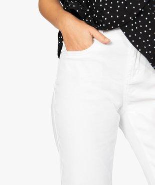 Pantalon femme en toile unie coupe droite 5 poches- Longueur L26 vue2 - GEMO (JEAN) - GEMO