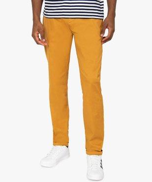 Pantalon homme chino coupe slim vue1 - GEMO (HOMME) - GEMO