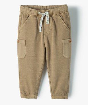 Pantalon bébé garçon en maille avec poches fantaisie vue1 - GEMO(BEBE DEBT) - GEMO