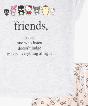Pyjashort fille bicolore à motifs - Hello Kitty vue2 - HELLO KITTY - Nikesneakers