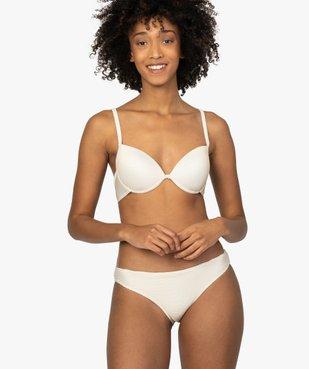 Haut de maillot de bain femme à rayures pailletées vue3 - GEMO (PLAGE) - GEMO