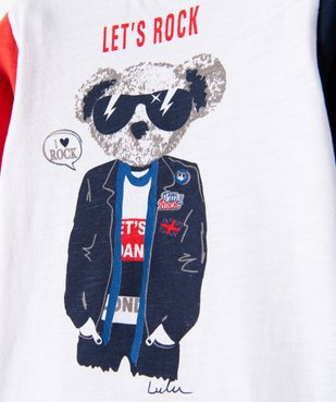 Tee-shirt garçon à manches longues imprimé - Lulu Castagnette vue3 - LULUCASTAGNETTE - GEMO