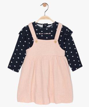 Ensemble bébé fille 2 pièces : robe + tee-shirt manches longues vue1 - Nikesneakers(BEBE DEBT) - Nikesneakers