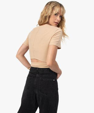 Tee-shirt femme avec lien à nouer - LuluCastagnette vue1 - LULUCASTAGNETTE - GEMO