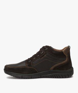 Low-boots homme confort avec nombreuses surpiqûres - Zen vue3 - GEMO (CONFORT) - GEMO