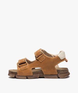 Sandales garçon tout terrain en cuir à scratchs - Bopy vue3 - BOPY - Nikesneakers