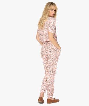 Combinaison-pantalon femme à manches courtes vue3 - GEMO(FEMME PAP) - GEMO