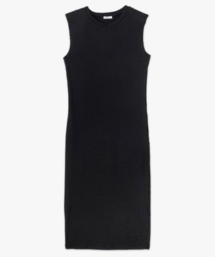 Robe femme en maille côtelée avec épaulettes vue5 - GEMO(FEMME PAP) - GEMO