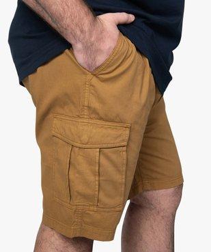 Bermuda homme en toile unie avec poche à rabat vue2 - GEMO (G TAILLE) - GEMO