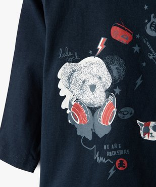 Tee-shirt bébé garçon avec motifs rock – Lulu Castagnette vue2 - LULUCASTAGNETTE - GEMO