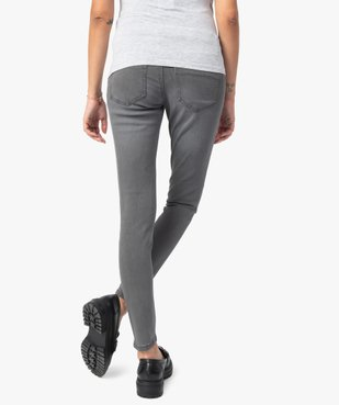 Jean de grossesse slim 4 poches avec bandeau jersey vue3 - Nikesneakers (MATER) - Nikesneakers