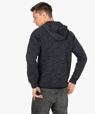 Sweat homme zippé à capuche  vue3 - GEMO (HOMME) - GEMO