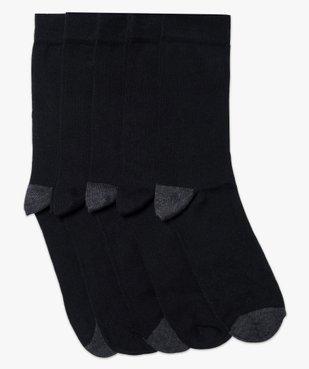 Lot de 5 paires de chaussettes hautes bicolores vue1 - GEMO(HOMWR HOM) - GEMO