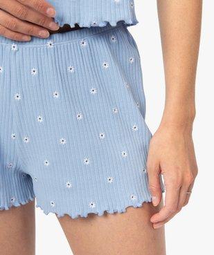 Bas de pyjama femme short fleuri - LuluCastagnette vue2 - LULUCASTAGNETTE - GEMO