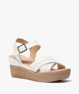 Sandales femme à talon compensé coupe spéciale pied large vue2 - GEMO(URBAIN) - GEMO