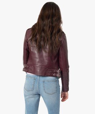 Blouson femme zippé style biker vue3 - GEMO(FEMME PAP) - GEMO
