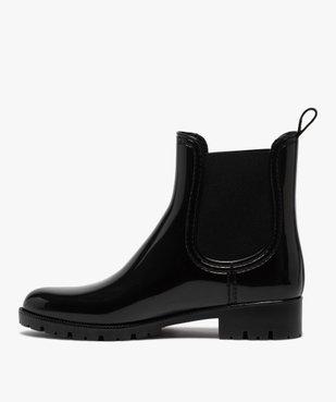 Boots de pluie femme style chelsea unis - Boatilus vue3 - BOATILUS - GEMO