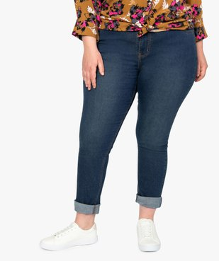 Jean femme extensible coupe Slim vue1 - GEMO (G TAILLE) - GEMO