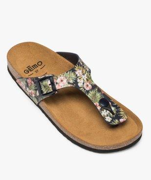 Sandales femme à entre-doigts imprimées de fleurs vue5 - GEMO (CASUAL) - GEMO