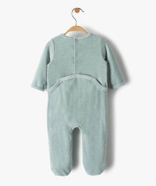 Pyjama bébé fille en velours avec motif nounours vue4 - Nikesneakers(BB COUCHE) - Nikesneakers