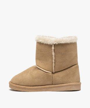 Boots fille en suédine à col fourré – LuluCastagnette vue3 - LULU CASTAGNETT - Nikesneakers
